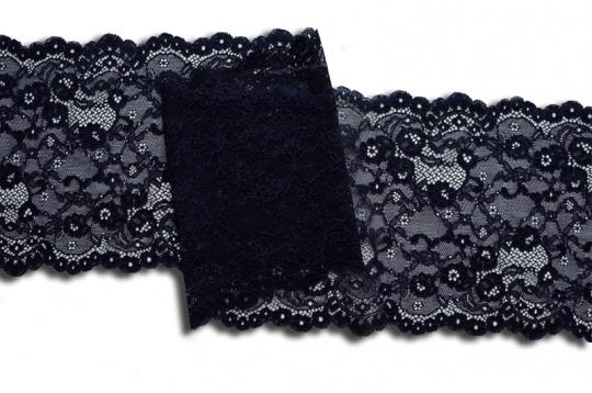 Spitzenband blau dunkel 17cm individuell abgeschnitten