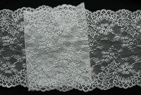 Spitzenband grau-grün blass 22cm