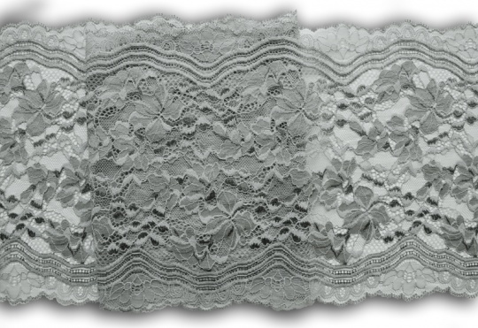Spitzenband grau 22,5cm