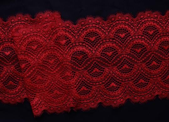 Spitzenband rot 20cm