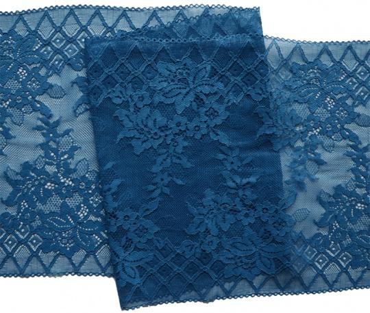 Spitzenband blau 23cm