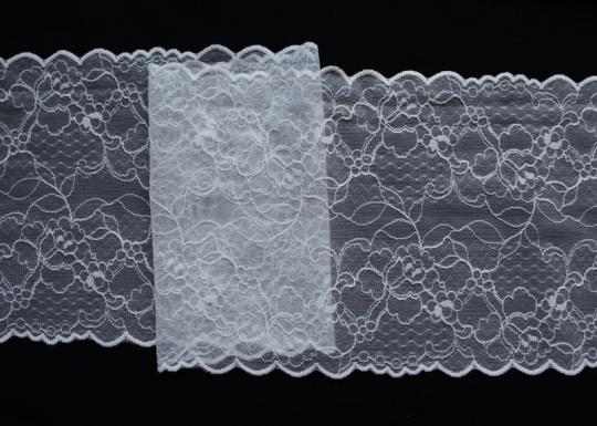 Spitzenband weiß 17cm