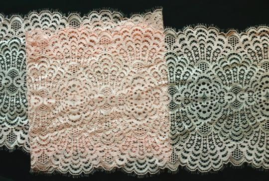 Spitzenband rosa 19cm Wimpernspitze