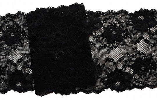 Spitzenband schwarz 20cm