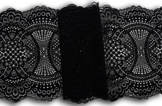 Spitzenband schwarz 23cm individuell abgeschnitten