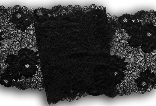 Spitzenband schwarz 21-22cm
