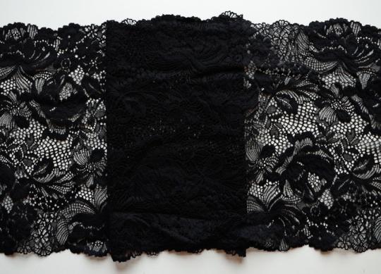 Spitzenband schwarz 23cm