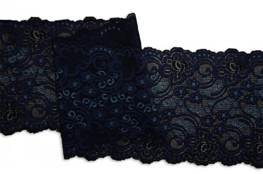 Spitzenband blau dunkel / blau hell 15cm