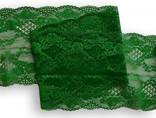 Spitzenband Farbrichtung waldgrün- grasgrün  17cm