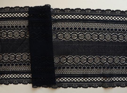 Spitzenband schwarz  22cm
