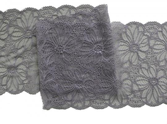 Spitzenband grau-lila-taupe 20cm