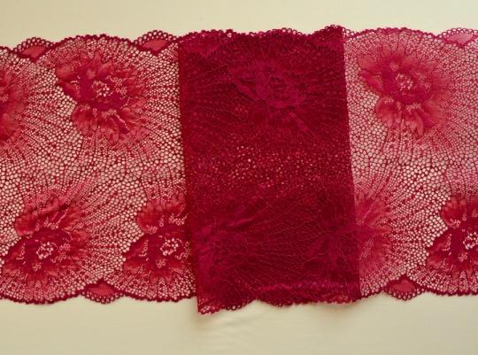 Spitzenband rot 22cm