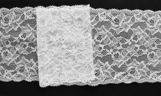 Spitzenband weiß 16cm