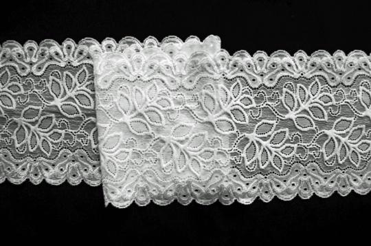 Spitzenband weiß 13cm