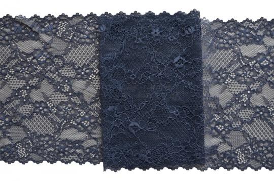 Spitzenband blau-grau 19cm