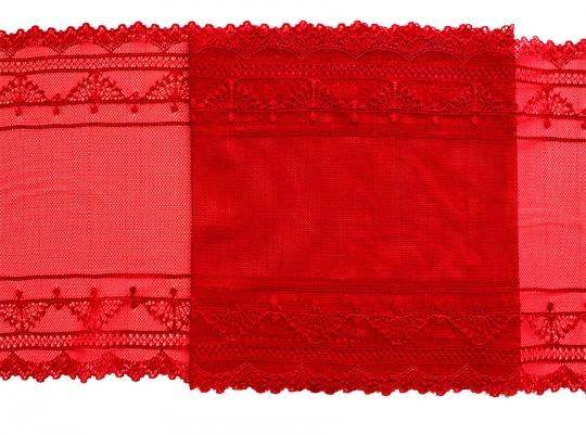 Spitzenband Farbrichtung satt rot 21cm
