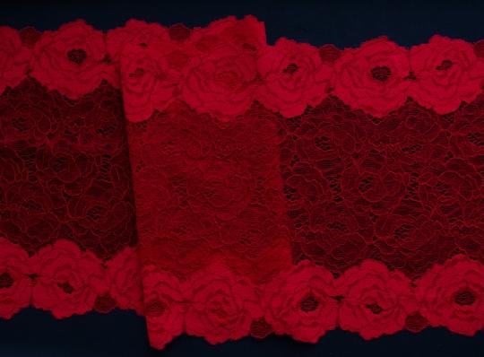 Spitzenband rot-pink 22cm