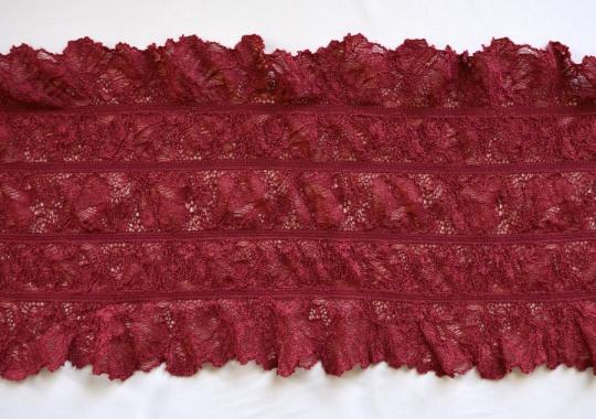 Spitzenband rot 18cm