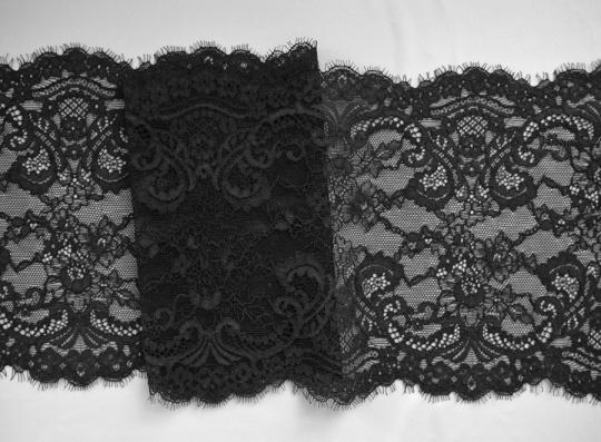 Spitzenband schwarz Wimpern 19cm