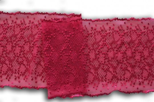 Stickereispitze unelastisch pink 22cm