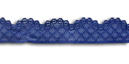 Spitzenband violett/blau  35mm Meterware