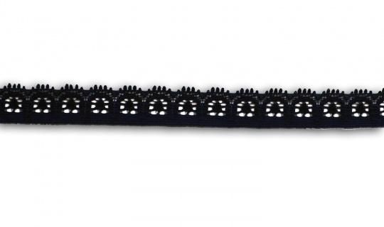 Spitzenband schmal schwarz 15-18mm