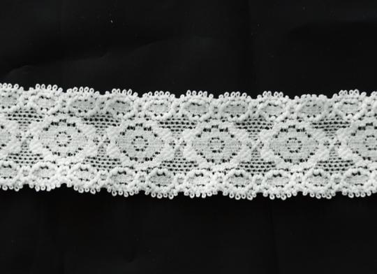 Spitzenband schmal grau elastisch 30 mm