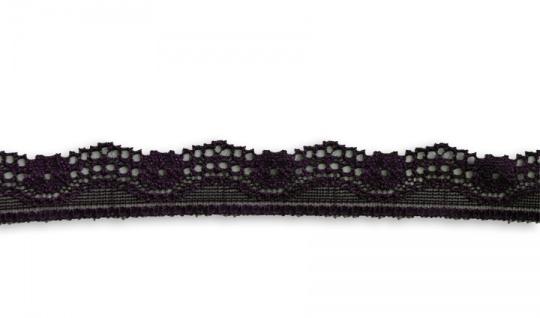 Spitzenband schmal volett dunkel 22mm