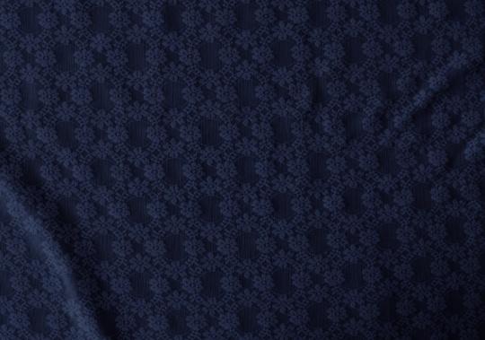 Alloverspitze elastisch  blau Floral