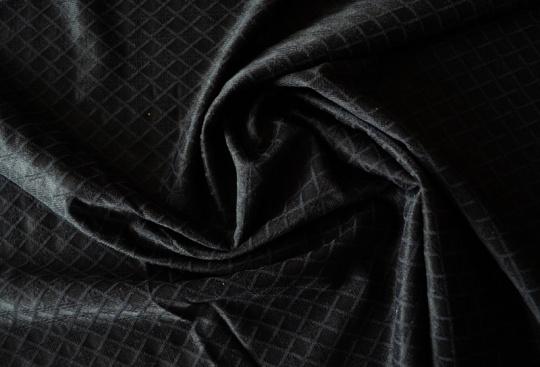Alloverspitze elastisch  schwarz Karo
