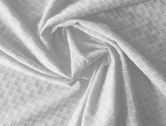 Alloverspitze elastisch  weiß Karo