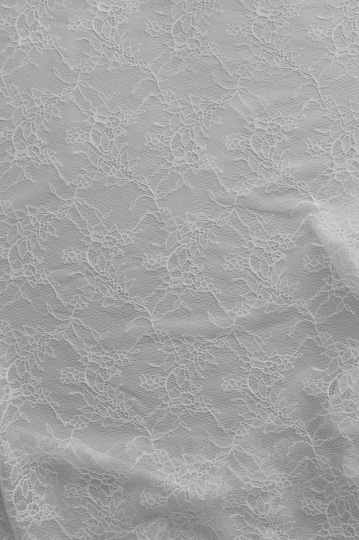 Alloverspitze elastisch weiß Blumen