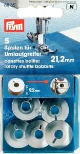 Spule für kleinen Umlaufgreifer 5 Stück, 21,2 mm