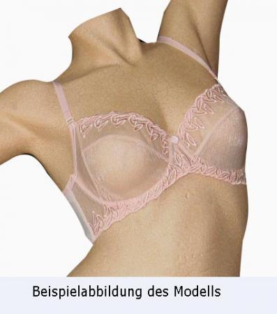 Stickerei - Spitzenband pink 26cm Meterware Nähpaket BH Rebecca