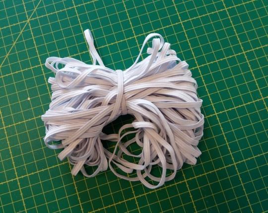 Maskengummi hochelastisch weiß  5mm 25 m