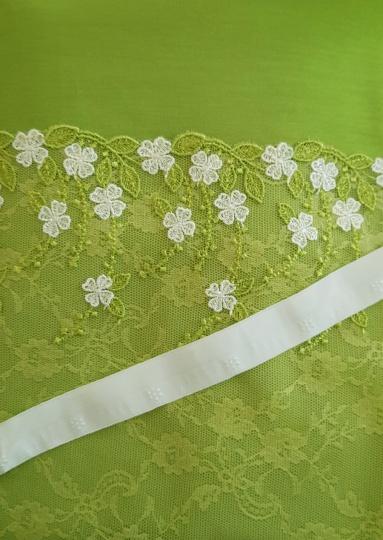 Kreativpaket BH Pia Komfort grün/gelb/weiß Baumwolle