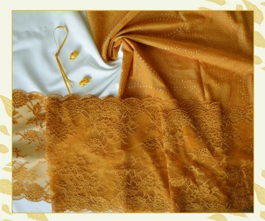 """Kreativpaket """"Pumpkin"""" - Farbrichtung creme/ gelblich orange"""